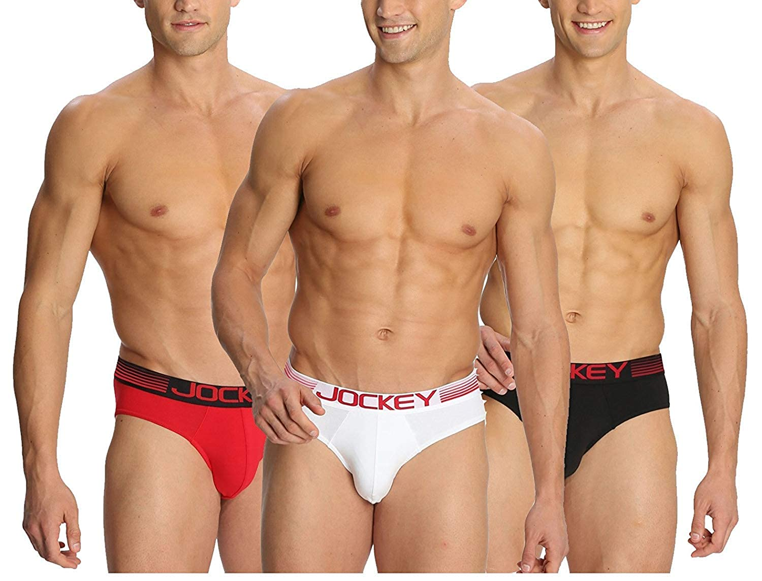 697cb437731c Jockey Zone Stretch Men's Bikini Briefs - Assorted Pack of 3 (Colors May  Vary) (Large): Amazon.in: Clothing & Accessories