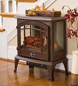 Dura Heat Portable Indoor Home Compact Electric Panoramic Quartz Infrared Heater 5000 BTU, Bronze