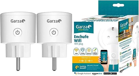 Garza ® Smarthome - Enchufe wifi inteligente programable compatible con Alexa y Google Home. Enchufe programador temporizador de domótica - Pack 2 unidades: Amazon.es: Bricolaje y herramientas