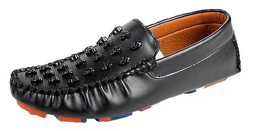Para rueda Jockey APTRO tipo Mocasín diseño de calavera en llamas para hombres de holgazán de vacas, color negro, talla 40 EU: Amazon.es: Zapatos y ...