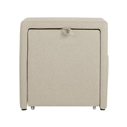 Beau Offex Home Living Room Decorative Charter Storage Cube Ottoman Off White