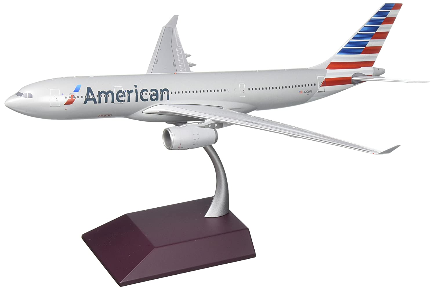 GeminiJets American Airlines Airbus A330-200 Diecast Airplane Model N290AY With Stand 1:200 Scale Part# G2AAL630