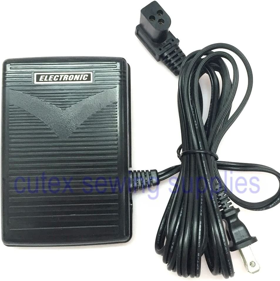 Foot Control Pedal With Cord #362095-001 (3 Prong) For Portable Sewing Machines