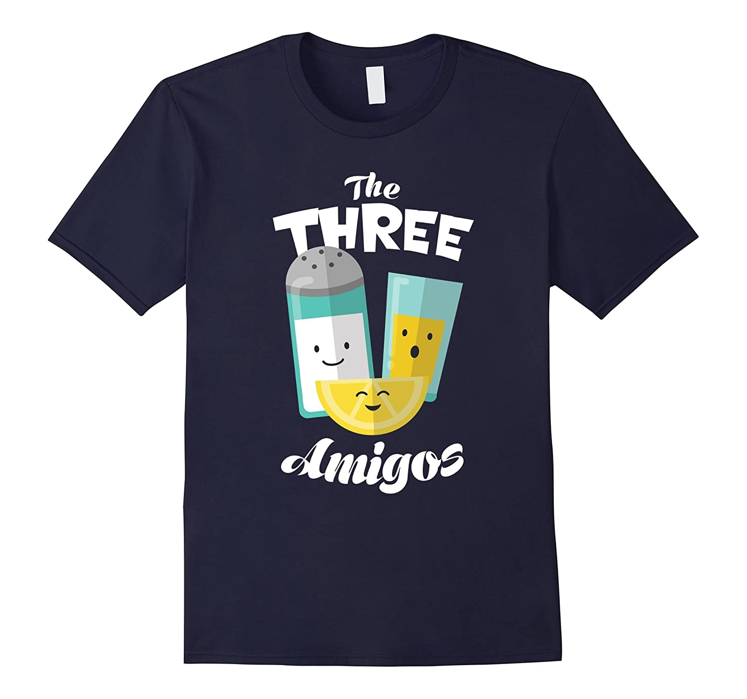 The Three Amigos Funny Tequila Lime Salt Drinking Shirt-Vaci