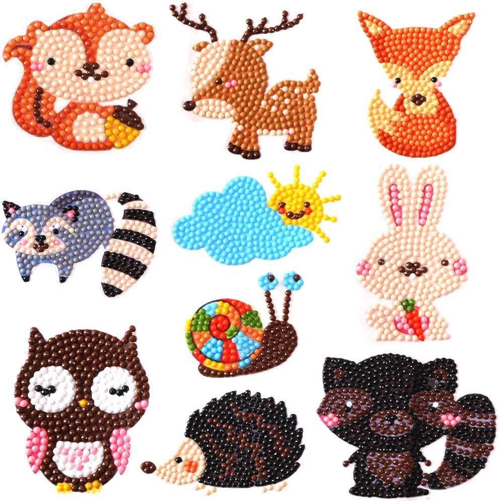 400 magic 5D DIY Diamond Painting Kits for Kids Diamond Kits Paint by Numbers Diamonds - Animal Sticker by 400 magic