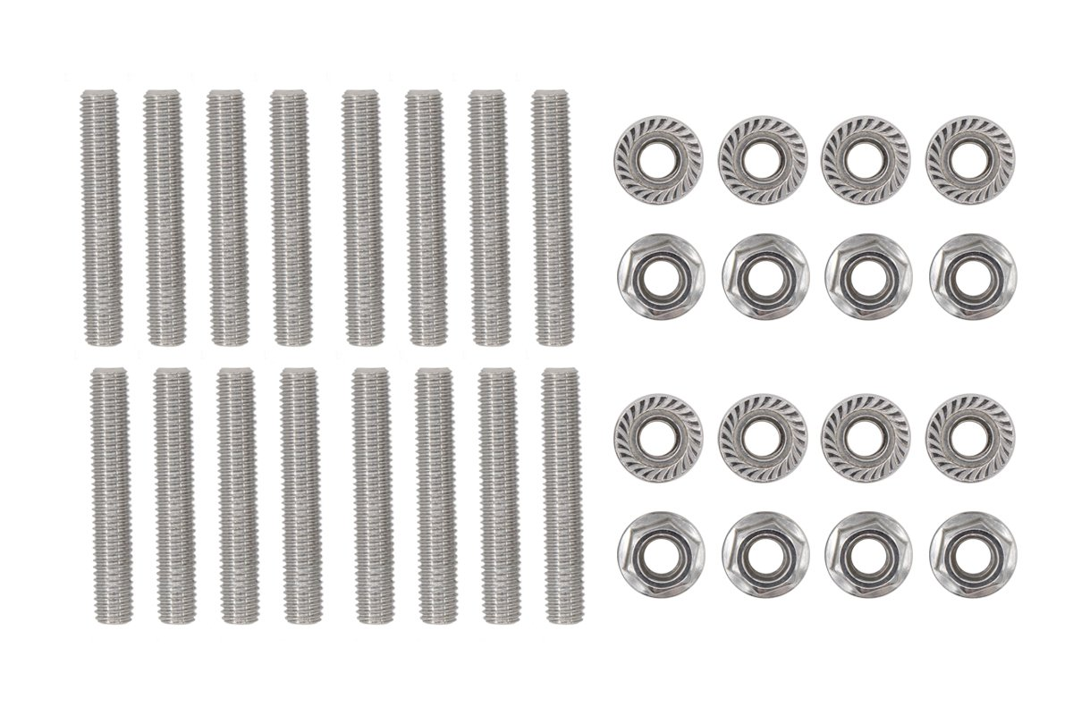 16 Pcs Stainless Exhaust Manifold Stud Nuts kit for Ford 4.6 & 5.4 Liter V8 2 Manifolds XtremeAmazing