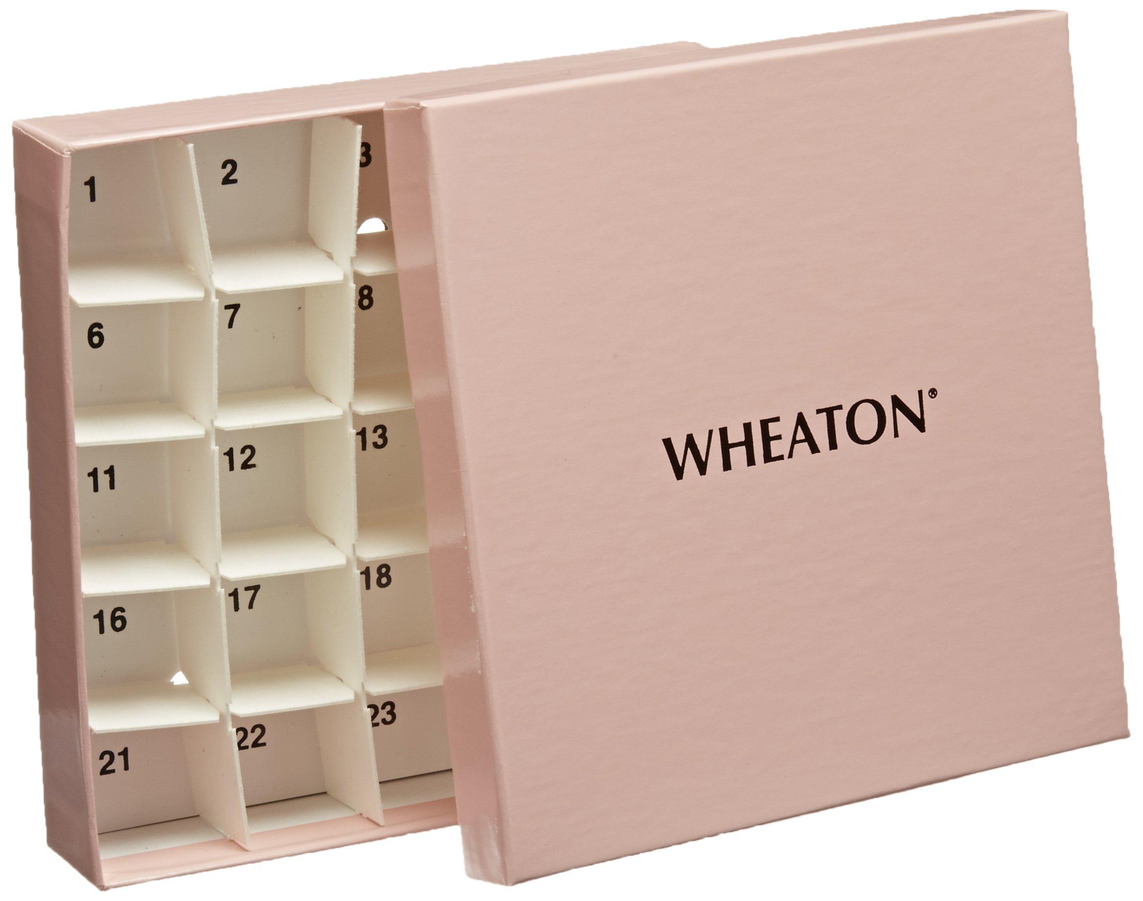 Wheaton W651610-P CryoElite Tissue Vial Box, Pink (Case of 15)