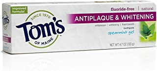 product image for Tom's of Maine Antiplaque Plus Whitening Gel, Spearmint 4.7 oz (Pack of 3)