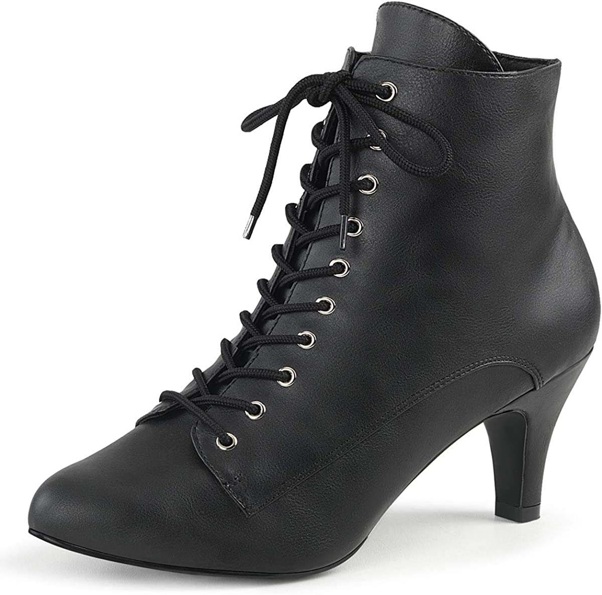 pleaser black ankle boots