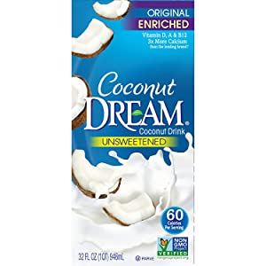 Coconut Dream Enriched Coconut Drink, Original Unsweetened, 32 Oz (Pack of 12)