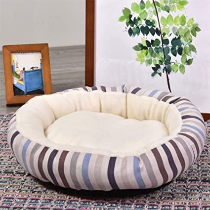 LanLan Cachemira Mignonne Dulce Cálida Confortable Redonda Nido Cama para Mascotas para Perro y Gato