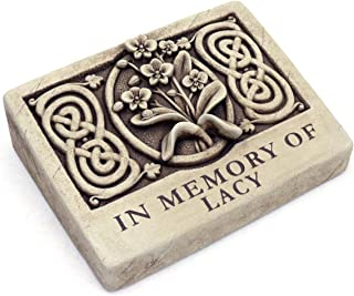 product image for Carruth Studios Two Lines Engraved Wild Orchid Memorial Plaque 9.25 Inches Wide
