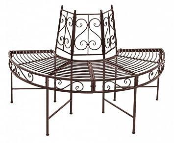Admirable Round Metal Tree Seat Bench Garden Bench Metal Half Amazon Squirreltailoven Fun Painted Chair Ideas Images Squirreltailovenorg