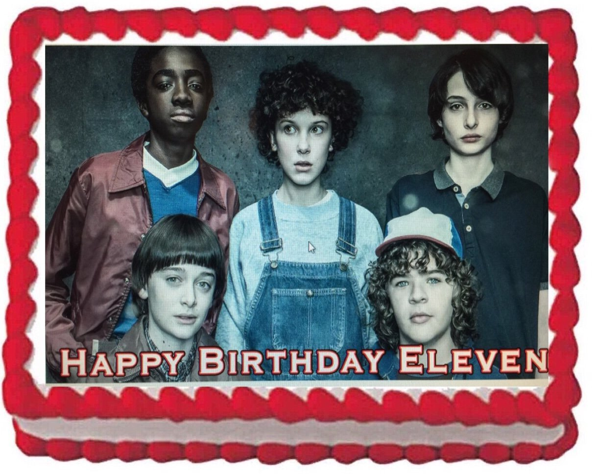 Stranger Things Inspired Unofficial Edible icing Cake Topper 8 inch PRE-CUT