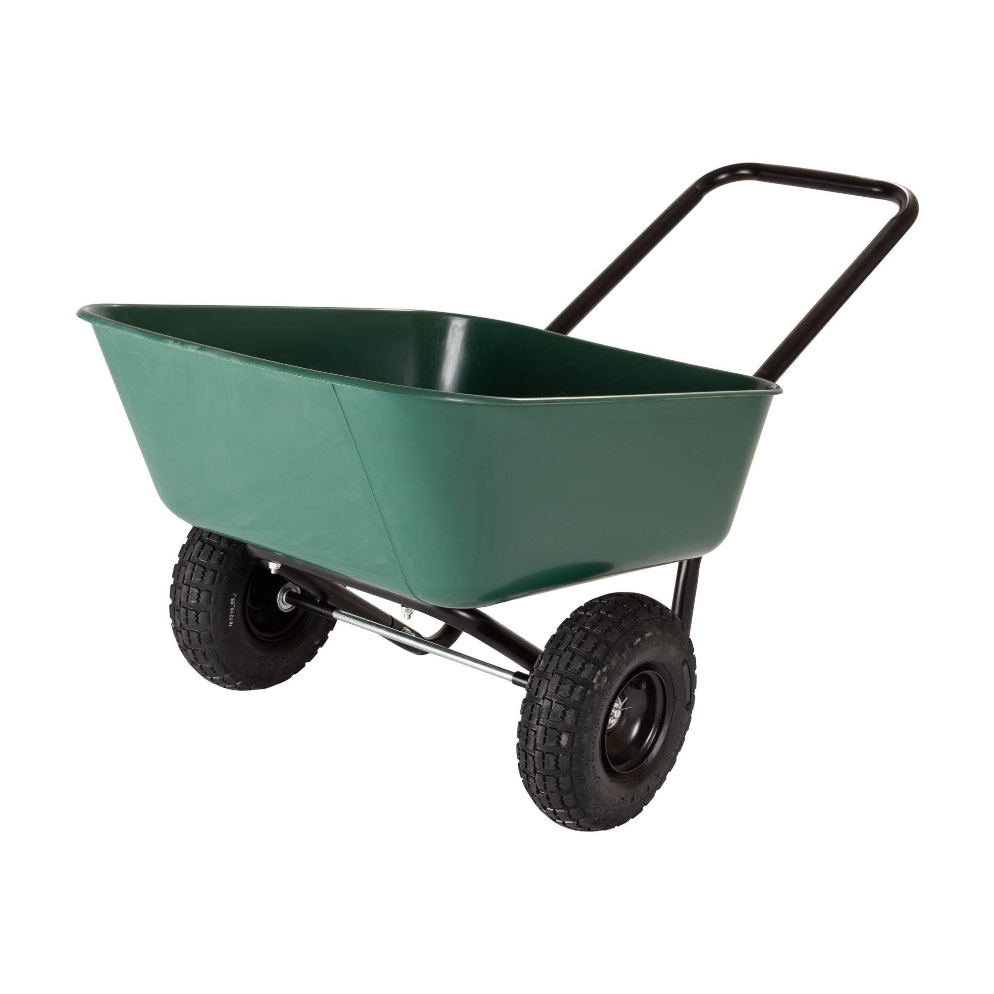 Garden Star 70019 Garden Barrow Dual-Wheel Wheelbarrow/Garden Cart by MARASTAR