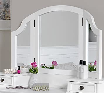 Gainsborough 3 Way Mirror, Large White Dressing Table Mirror, ADJUSTABLE  Angle Mirror With