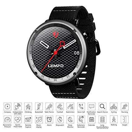 Teepao Bluetooth Smart Watch,GPS Fitness Tracker - Heart Rate Monitor Waterproof IP67 Smartwatch Sleep
