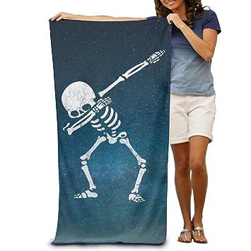 Esqueleto de dabbing DAB Hip Hop Calavera adultos toalla de baño 80 x 130 cm: Amazon.es: Hogar