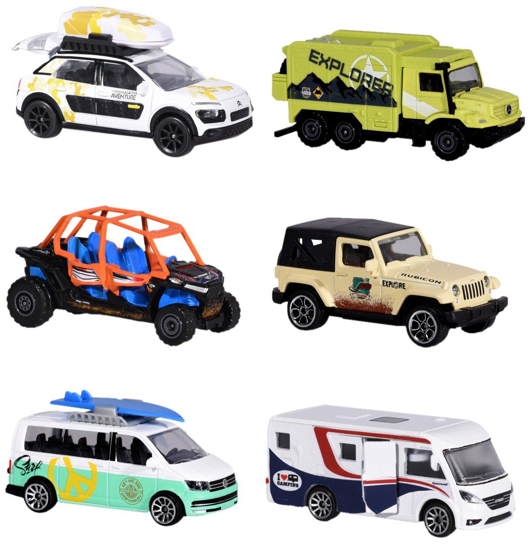 exploradores de veh/ículos Die-Cast Modelos 7 Dickie Majorette 212057601/Explorer Assortment 6/Varios veh/ículos en Miniatura 5/cm