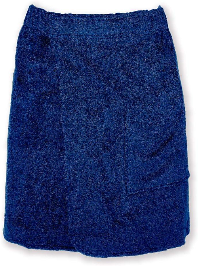 P//S Arus con elastico e chiusura in velcro Asciugamano da sauna da uomo Kilt in 100/% spugna di cotone biologico Cotone lunghezza al ginocchio bordeaux