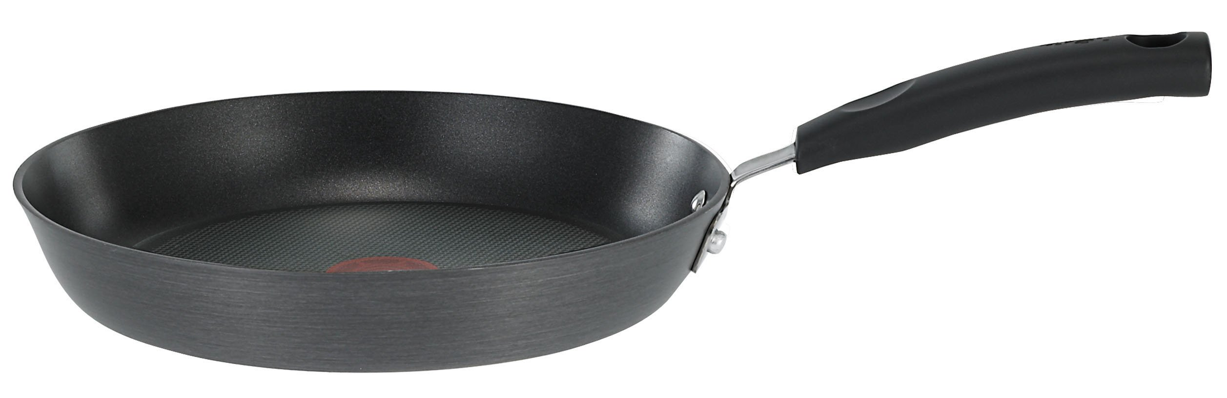 T-fal D91302 Signature Hard Anodized Scratch Resistant PFOA Free Nonstick Thermo-Spot Heat Indicator Fry Pan Cookware, 7.75-Inch, Black