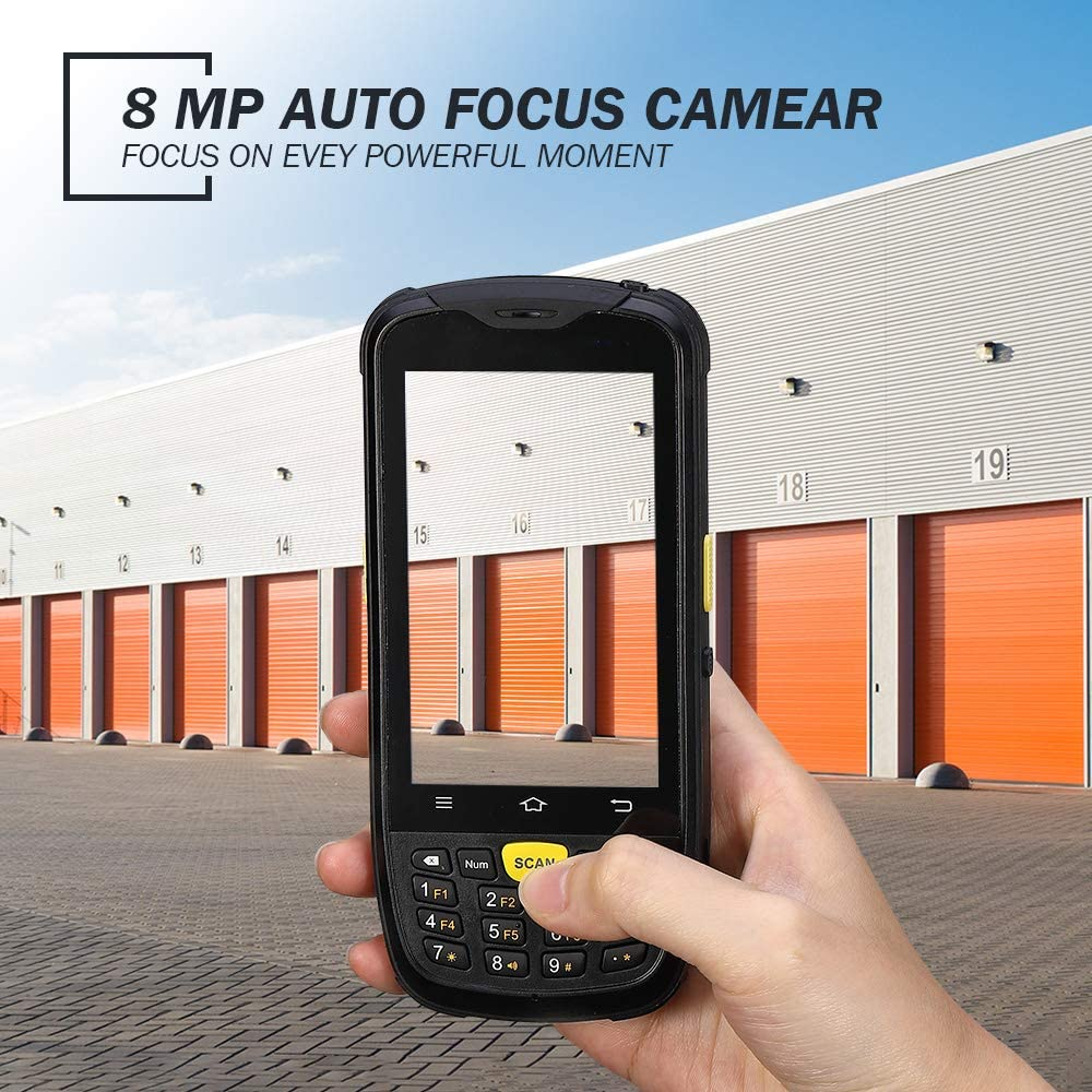 Rugged Android Pos Terminal Industiral MUNBYN Moblie Computer with 2D QR Zebra Barcode Scanner 4G WiFi GPS BT Wireless 13.56MHz NFC Reader Data Collector Warehouse Data Scanner
