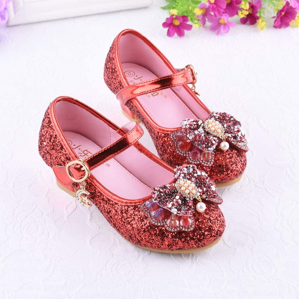 COOlCCI/_2019 NEW ARRIVAL Flower Girls Dress Wedding Party Bridesmaids Heel Mary Jane Princess Shoes