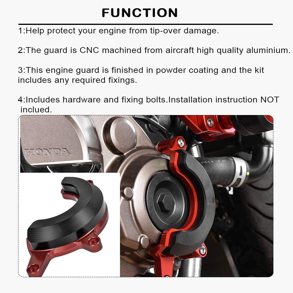 Black LoraBaber Motorcycle CB650R Falling Protection Frame Slider Fairing Guard Anti Crash Pad Stator Case protector for Honda CB 650R CB 650 R 2019 2020