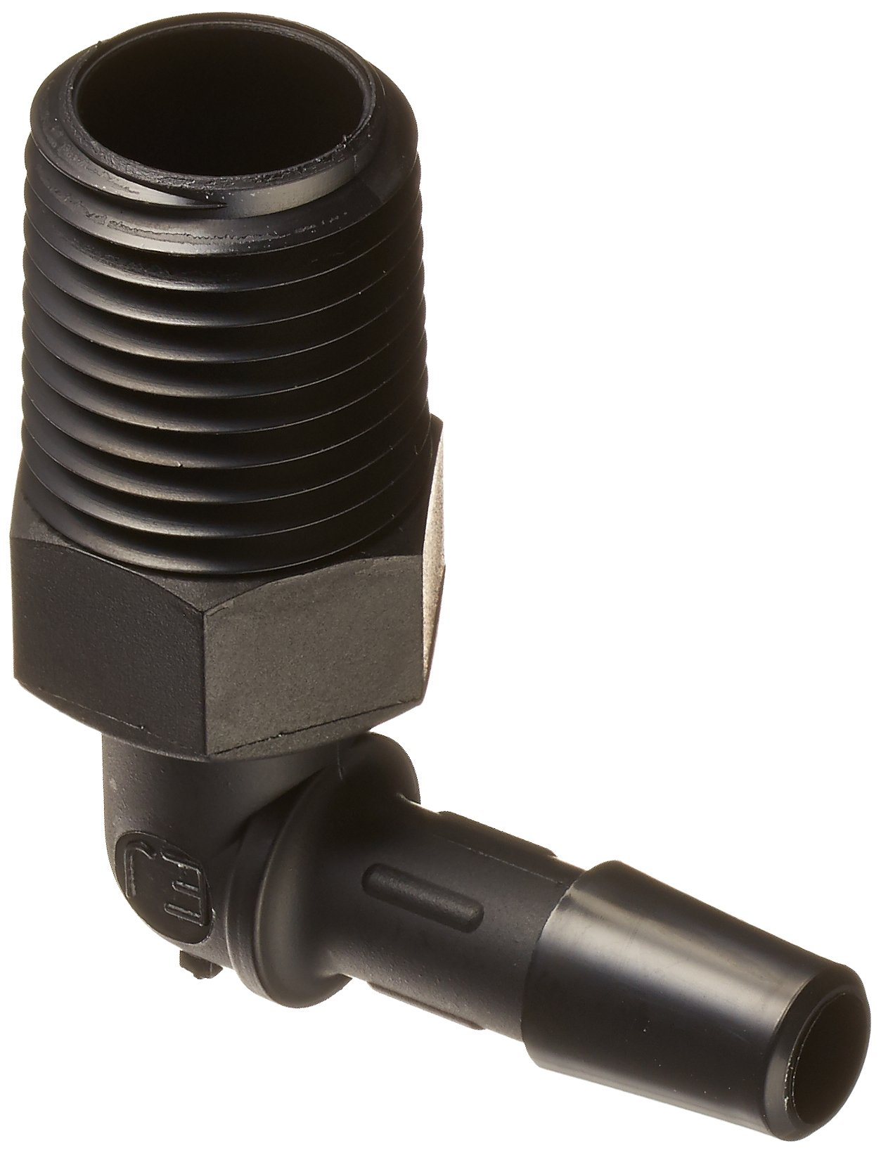 Pack of 10 1//4-18 NPT to 1//8 Hose Barb 1//4-18 NPT to 1//8 Hose Barb Eldon James A4-2BN Black Nylon Adapter Fitting Pack of 10