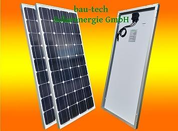2 Stück 50Watt Solarmodule Solarpanel Monokristallin Full Black Schwarz