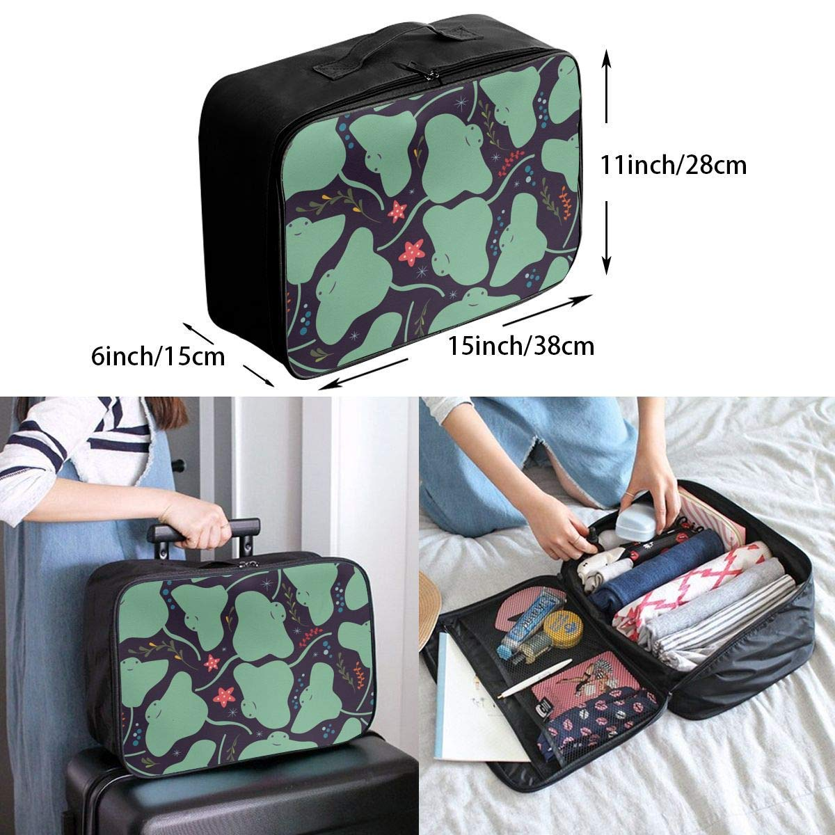 Jungle Tigers In Auburn Colors Travel Lightweight Waterproof Foldable Storage Carry Luggage Duffle Tote Bag