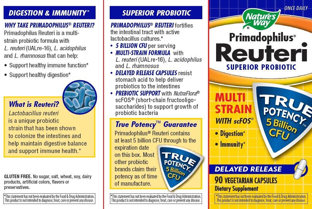 Primadophilus reuteri, Superior probiótico, 90 Vcaps - Camino de la Naturaleza: Amazon.es: Salud y cuidado personal