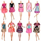 Buytra 10-Pack Doll Clothes Handmade Wedding Dress Party Gown Clothes Outfits for Barbie Doll Girl's Birthday Gift