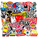 Fashion Brand Stickers 100PCS for Laptop,Mackbook,Funny Cool Aesthetic Hypebeast Stickers Decals Pack for Car,Motorcycle,Skateboard,Bikes,Travel case,Snowboard,Trucks,Van,Luggage,Tool Box[Waterproof
