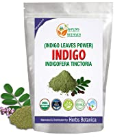 Herbs Botanica Indigo Powder For Hair - Indigofera Tinctoria (100% Natural Organically...