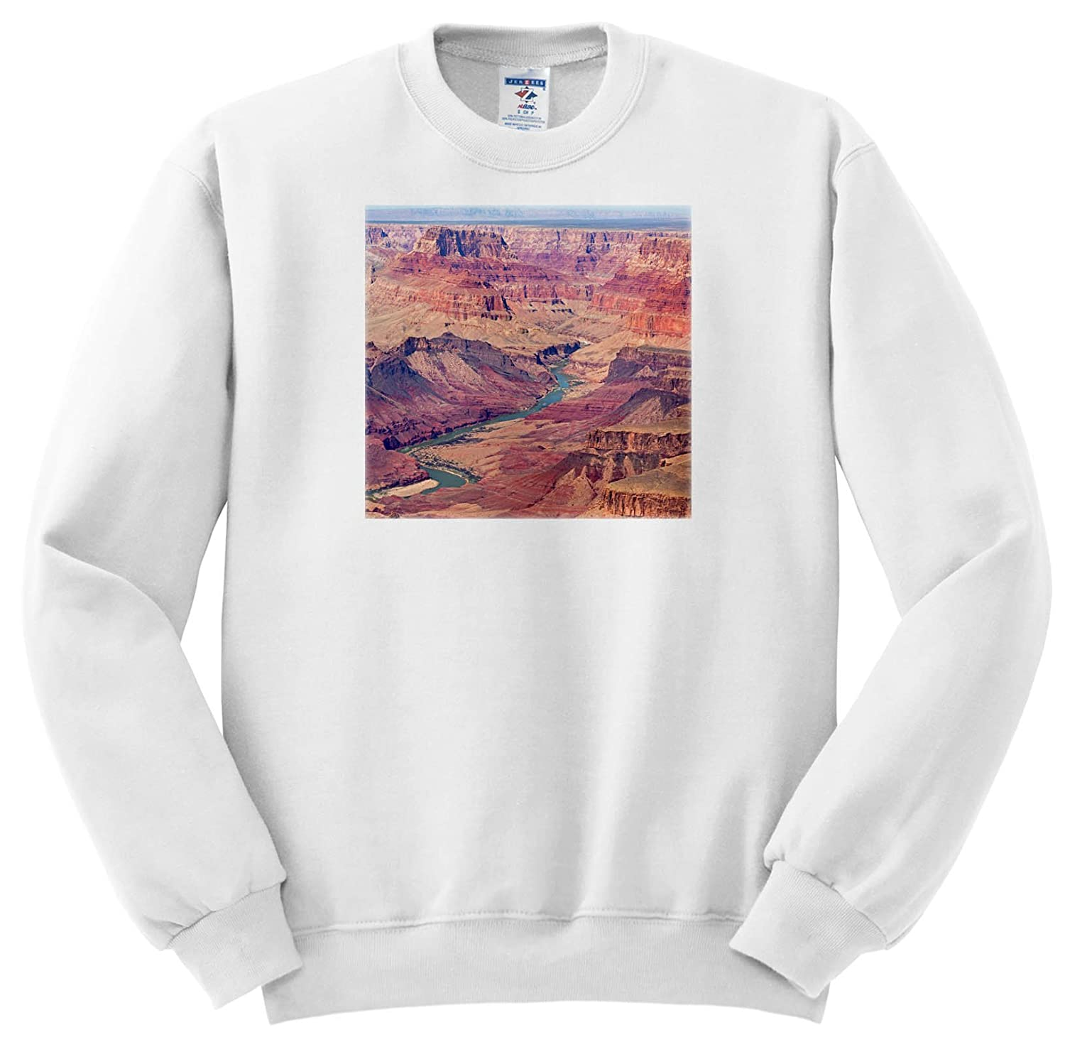 3dRose Danita Delimont - Canyons - Arizona, Grand Canyon National Park, South Rim, View From Lipan Point - Sweatshirts ss_258707