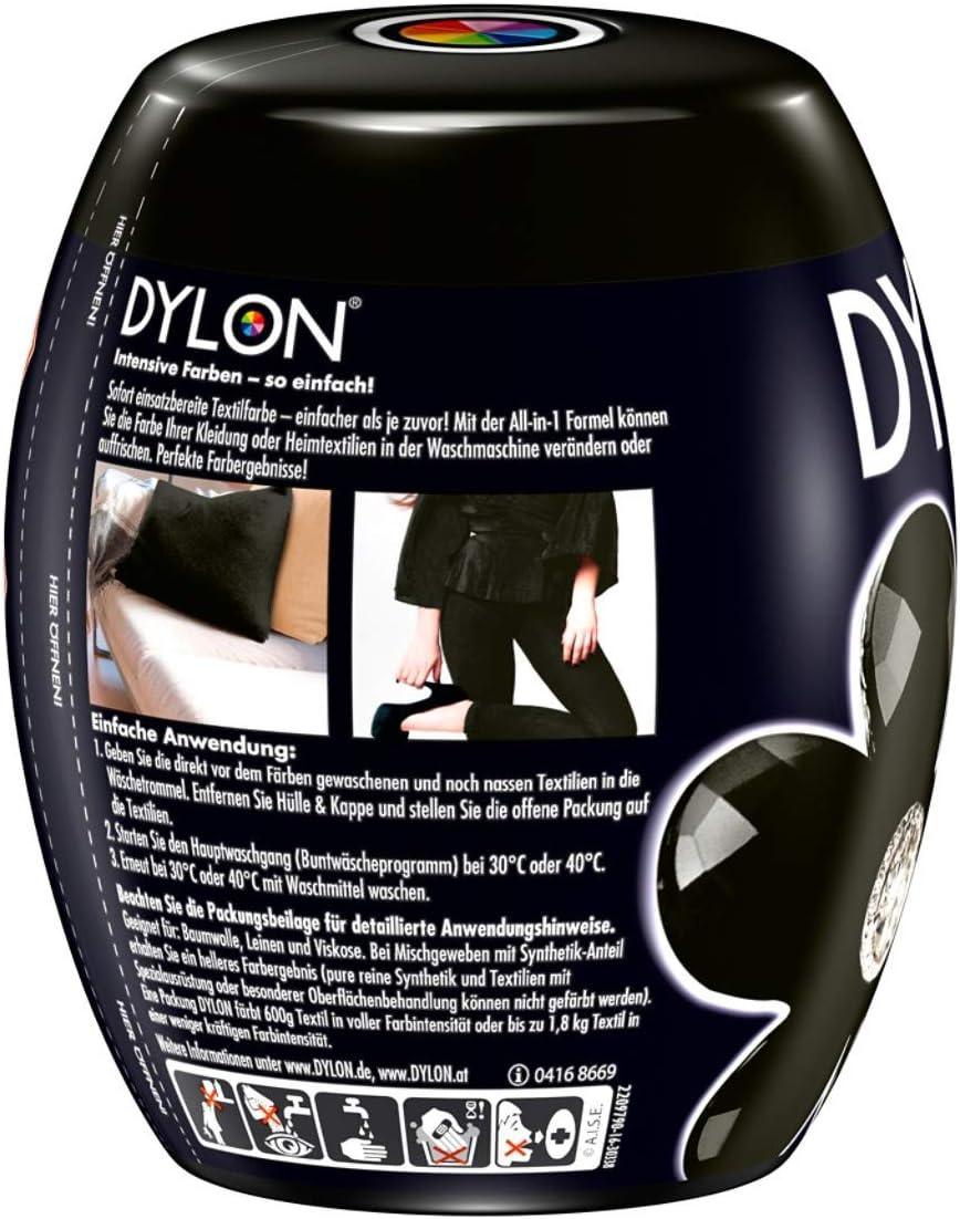 DYLON Textilfarbe intensives Schwarz Farbe /& Fixierer für 600g Stoff fabric