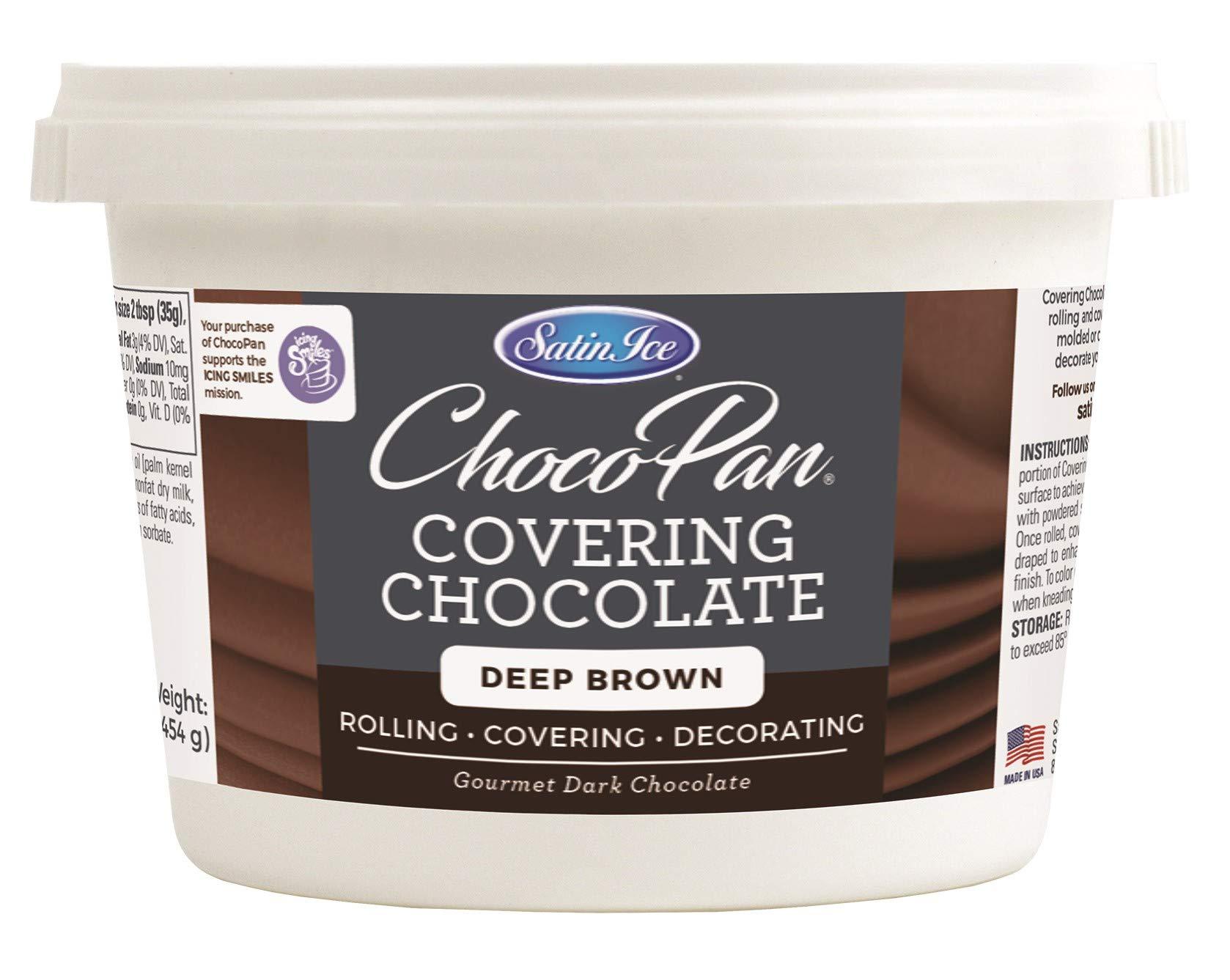 Satin Ice ChocoPan Deep Brown Covering Chocolate, 1 Pound