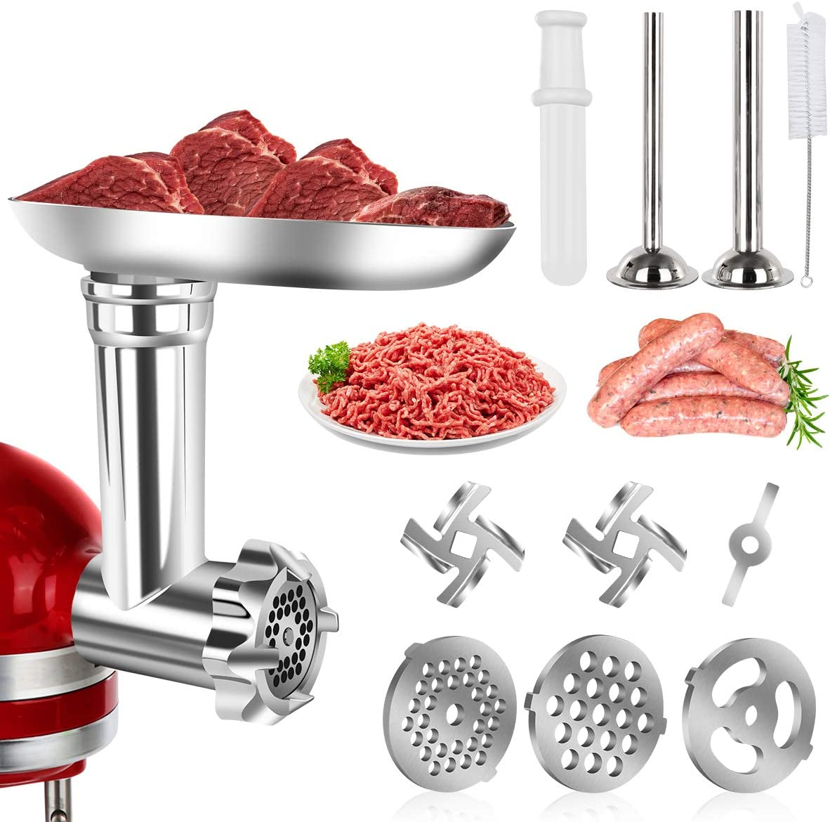 Food Meat Grinder Attachments For Kitchenaid Stand Mixers Durable Meat Grinder,