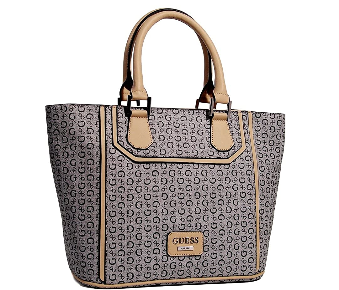 Amazon.com: GUESS Signature Leadership Tote Bag Handbag Purse Black Multi: Shoes