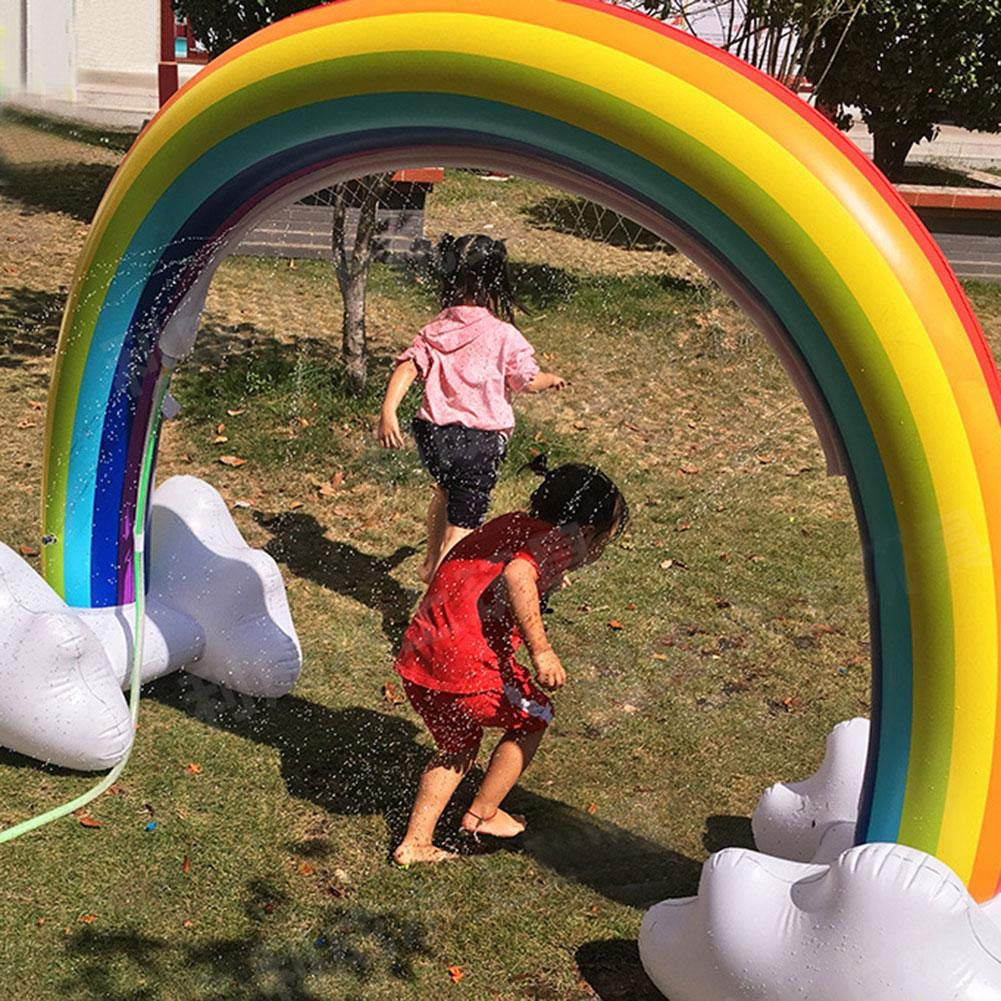 Highjump Inflatable Rainbow Yard Summer Sprinkler Toy, Children's Rainbow Portable Outdoor Water Play Sprinklers Toys,Perfect for Child Adult Baby Games Center by Highjump (Image #3)