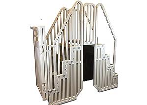 Confer Above Ground Pool Step Enclosure Kit Warm Grey - Step-ENC-X KIT