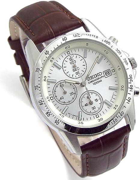 SEIKOクロノグラフ腕時計本革ベルトセット国内セイコー正規流通品ホワイトディープブラウンSND363P1-DB[並行輸入品]