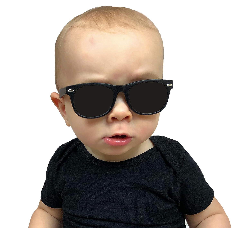 029e78a71a1d Babyfied Apparel Baby Wayfarer Sunglasses Black w/Strap 0-2 Yrs: Amazon.ca:  Clothing & Accessories