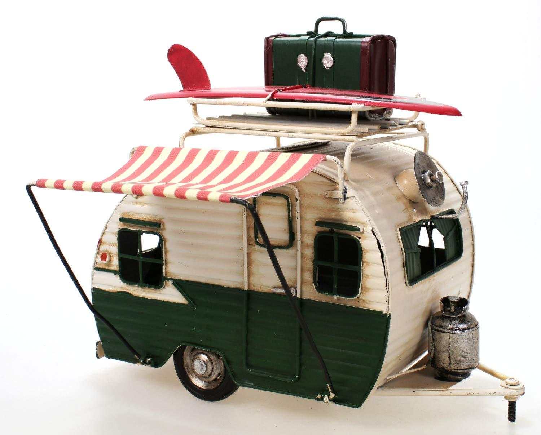 Amazon.de: Wohnwagen aus Metall grün mit Rahmen und Spardose Camper ...