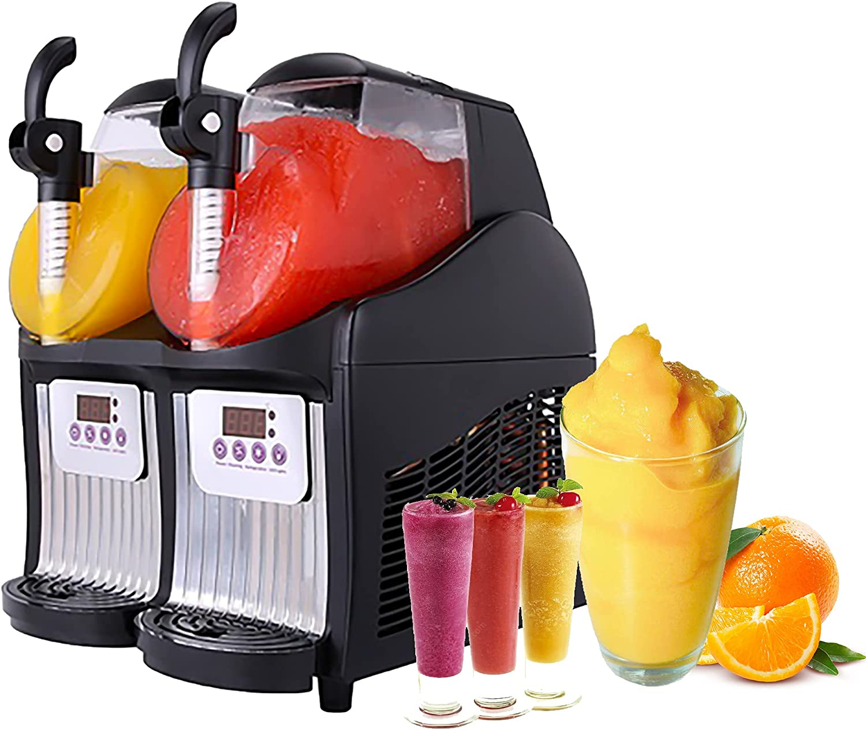 Commercial Ice Slush Machine 2X2.5L Tanks,Commercial Slushy Machine,Frozen Summer Drink ice Slush Machine/Frozen Beverage Making Machine/ice Slush Machine/Slush Frozen Drink Maker