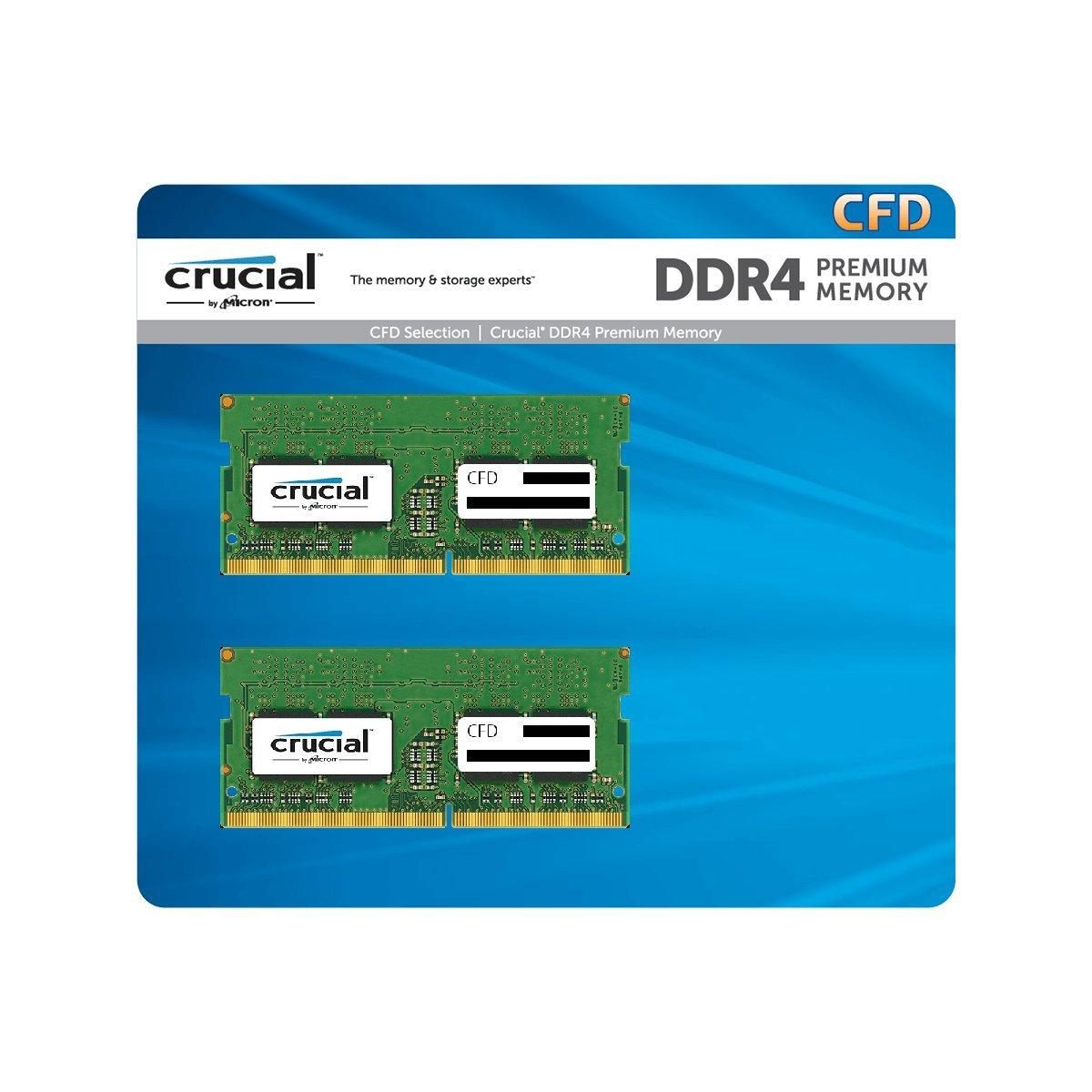 CFD販売 ノートPC用メモリ PC4-19200(DDR4-2400) 4GB×2枚 260pin / 無期限保証 / Crucial by Micron / W4N2400CM-4G B01L6OC9LQ 4GBx2  4GBx2