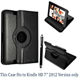 "AMAZON KINDLE FIRE HD 7"" VARIOUS PU LEATHER WITH SLEEP/WAKE STANDBY MAGNETIC CASE COVER POUCH + STYLUS BY GSDSTYLEYOURMOBILE"