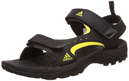 059c28e3291a Adidas Men s Marengo Black and Yellow Athletic   Outdoor Sandals ...