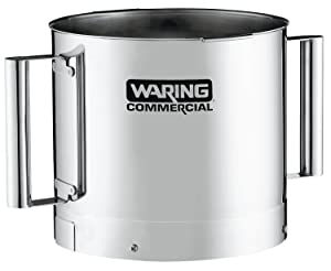 Waring Commercial FP40SSB Stainless Steel Batch Bowl with 2-Handle, 4-Quart